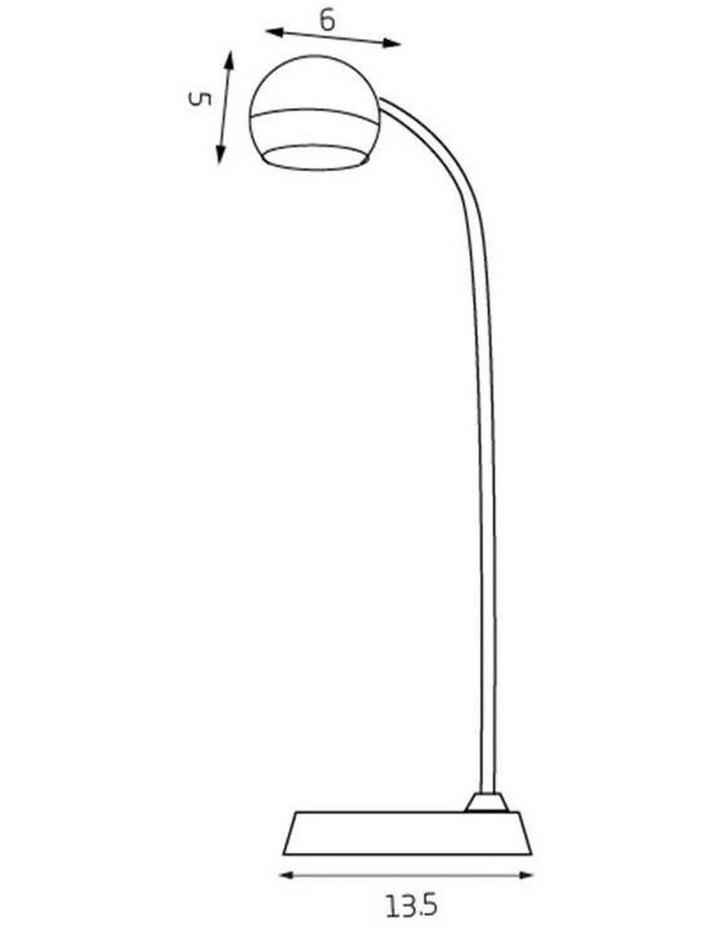Inbuilt LED Touch Button Gooseneck Desk Lamp - Dual Power image 7