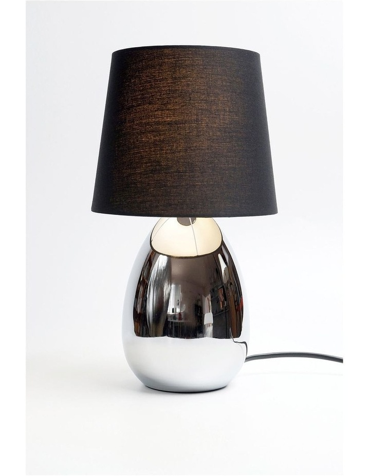 Libby Touch Table Lamp Chrome Black image 2