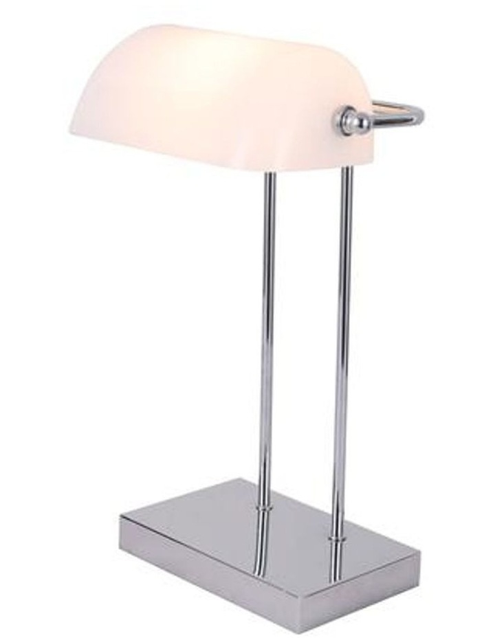 Banker Touch Table Lamp With Usb Charger Chrome/White image 2