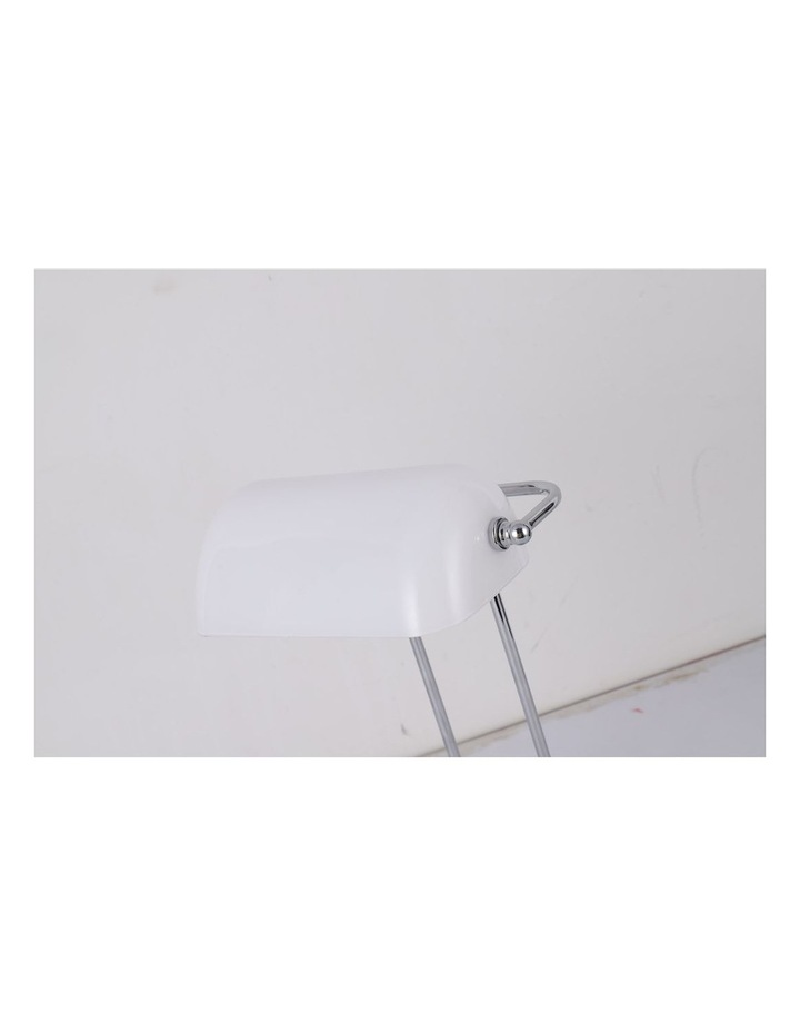 Banker Touch Table Lamp With Usb Charger Chrome/White image 3