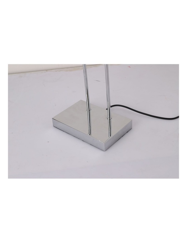 Banker Touch Table Lamp With Usb Charger Chrome/White image 4