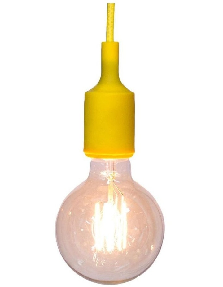 Colour Silicone Ceiling Pendant Light Yellow image 1