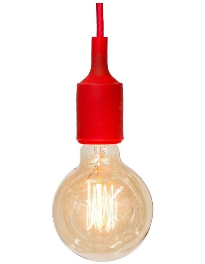 Colour Silicone Ceiling Pendant Light Red image 1