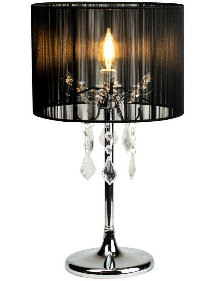 Paris Crystal Table Lamp Black image 1