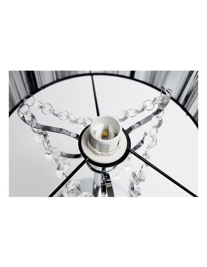 Paris Crystal Table Lamp Black image 3