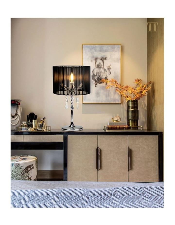 Paris Crystal Table Lamp Black image 4