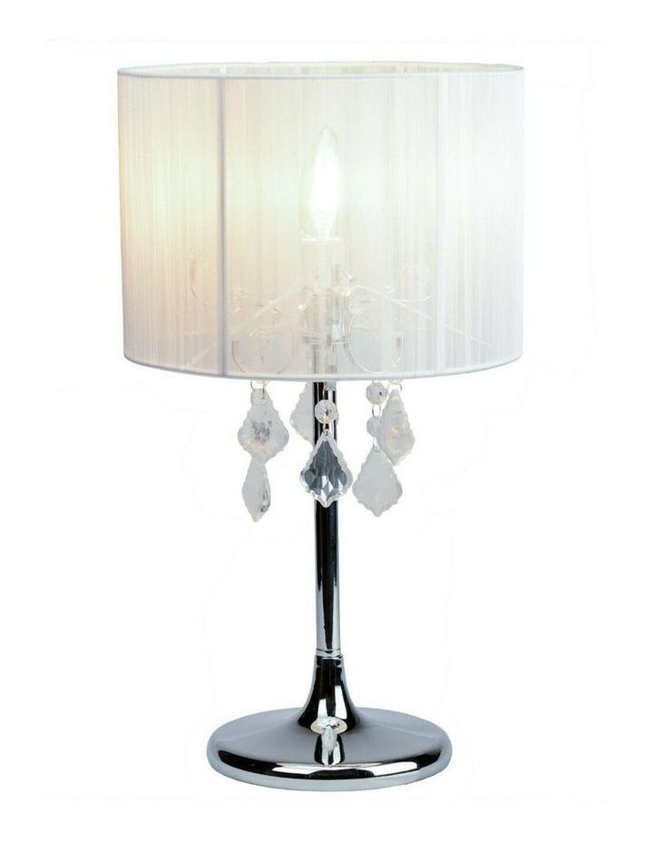 Paris Crystal Table Lamp White image 1