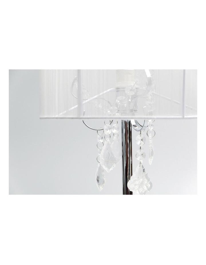 Paris Crystal Table Lamp White image 2