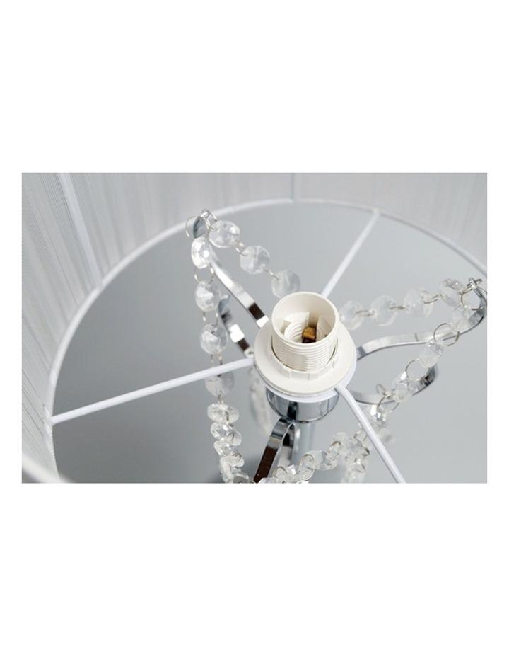 Paris Crystal Table Lamp White image 3