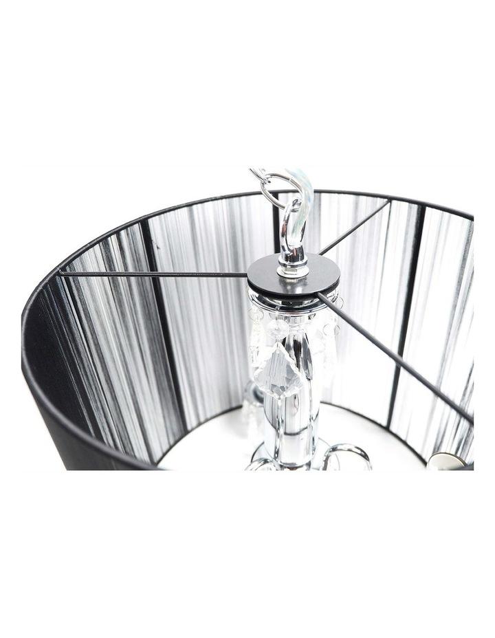 Paris Crystal Chandelier Pendant Light Black image 2