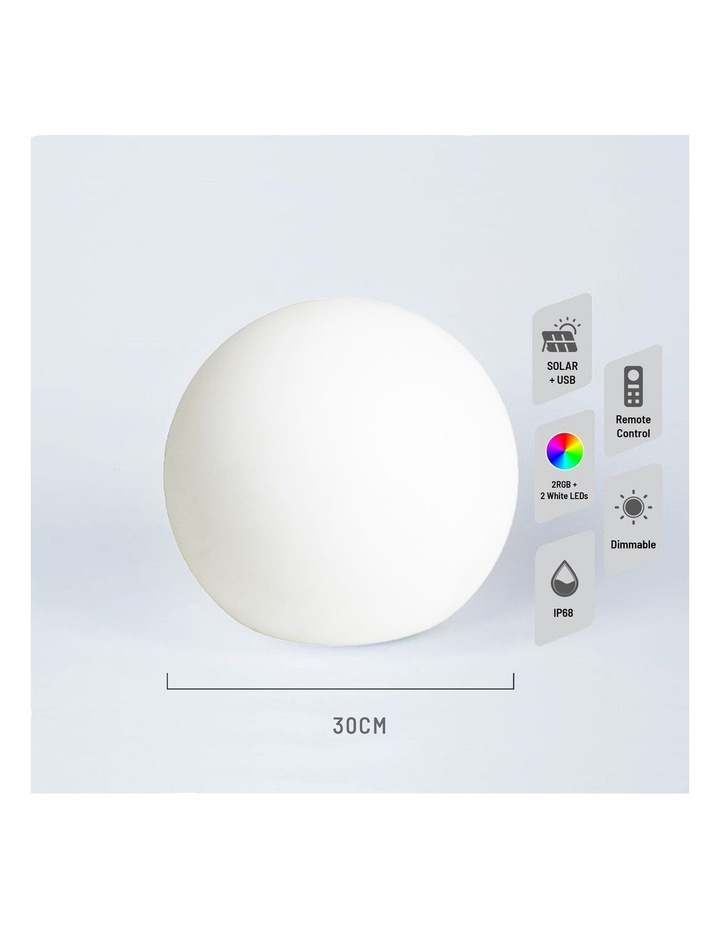 LED Mood Light Ball 30CM Solar DC Power image 5