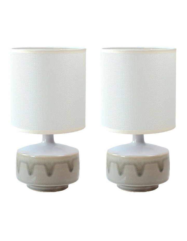 Braid Ceramic Table Lamp Set of 2 image 1