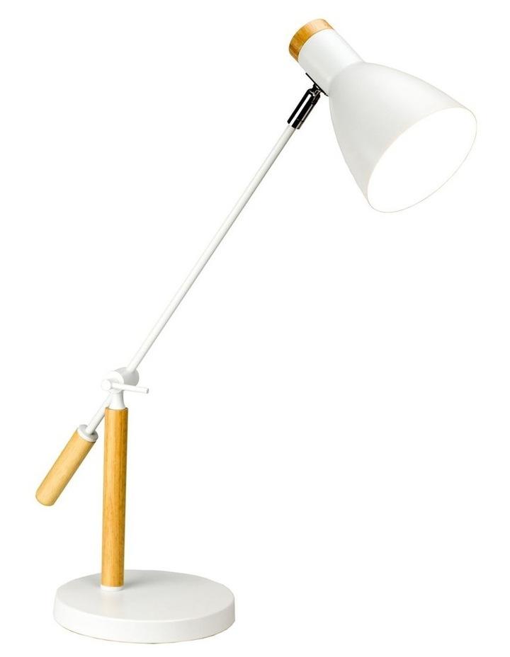 Scandinavian Style Adjustable Table Lamp White image 1