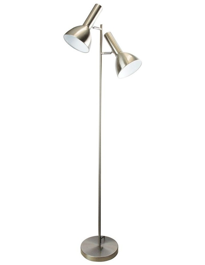 Vespa Twin Floor Lamp Brushed Chrome image 1