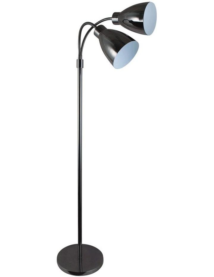 Retro Twin Floor Lamp Gunmetal image 1
