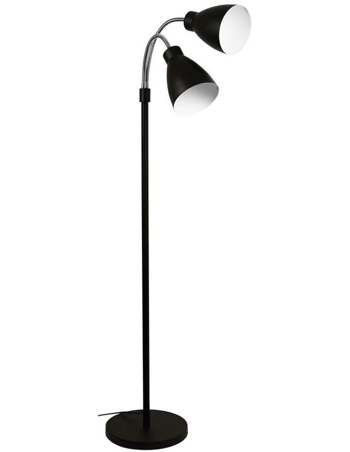Retro Twin Floor Lamp Matt Black image 1