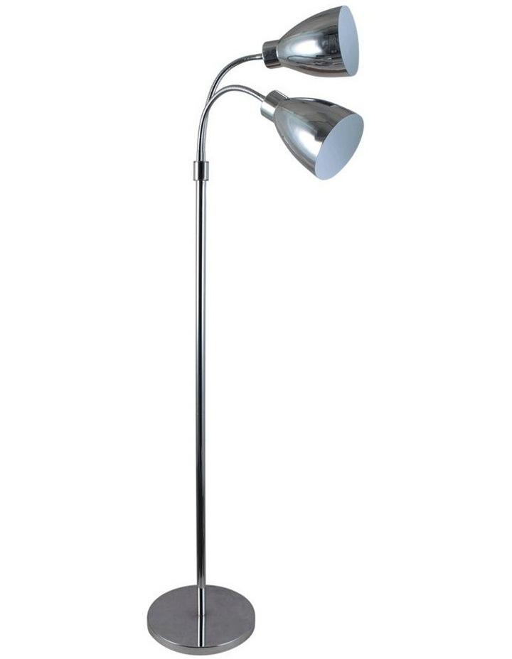 Retro Twin Floor Lamp Bright Chrome image 1