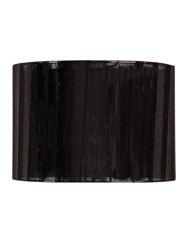 35cm Organza Ribbon Light Shade Black image 1