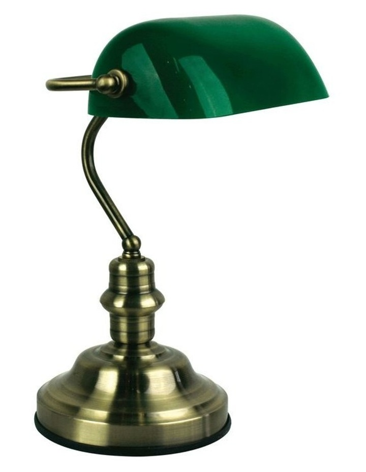 Banker's Touch Table Lamp AB/ Drak Green image 1