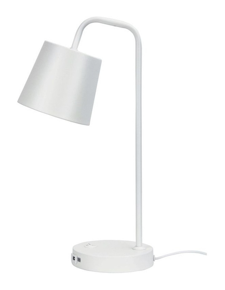 Henk Desk Lamp with USB White image 1