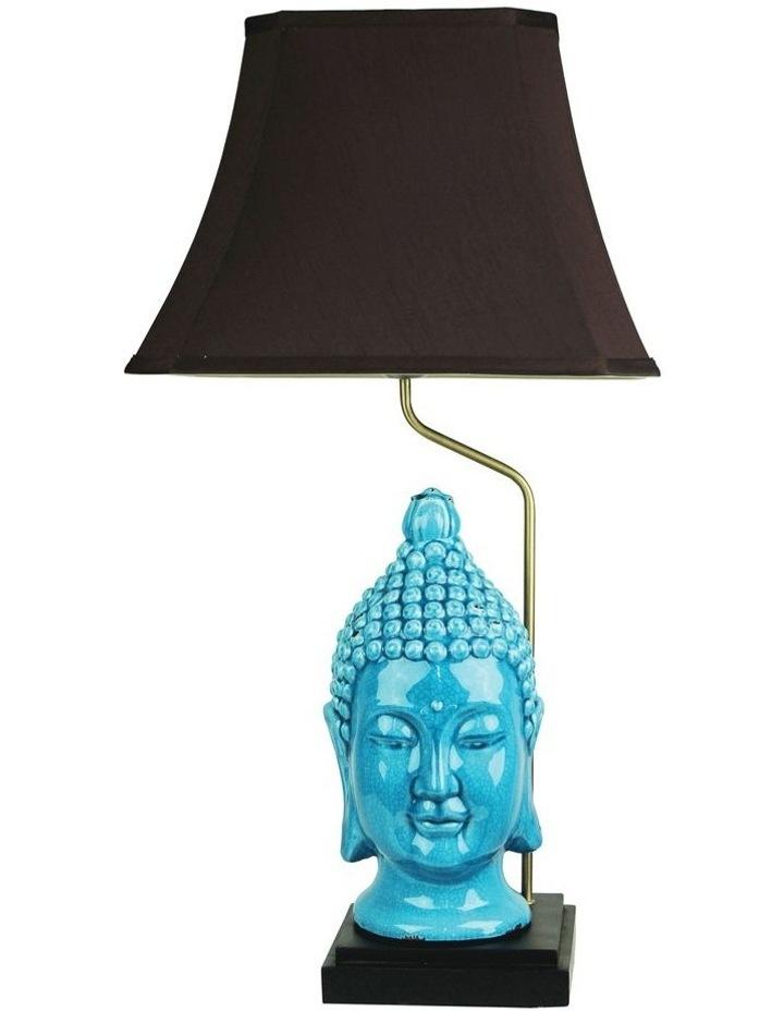 Jade Buddha Head Chinese Ceramic Table Lamp image 1