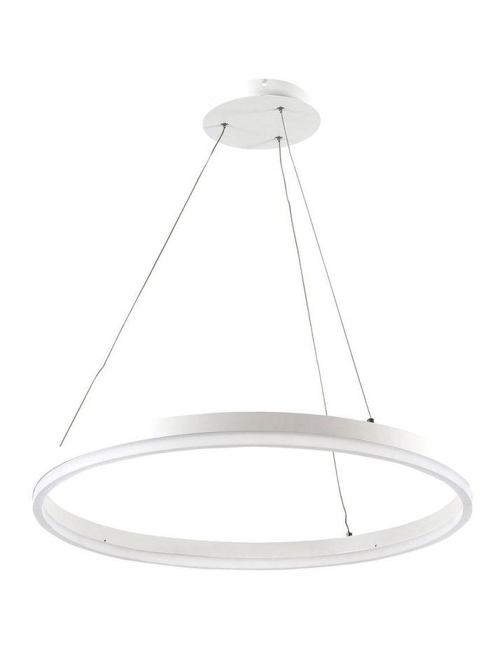 Cronus.60 Modern LED Halo Pendant Light White image 1