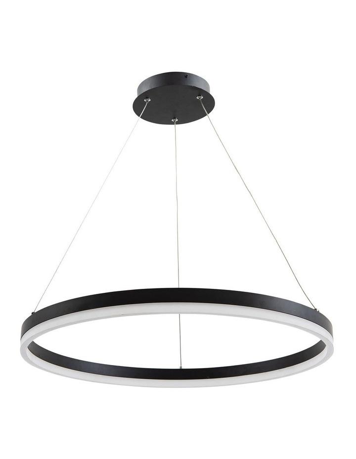 Cronus.60 Modern LED Halo Pendant Light Black image 1