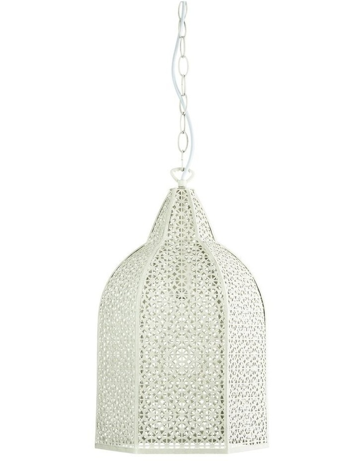 Istanbul Wrought Pendant Light Antique White image 1