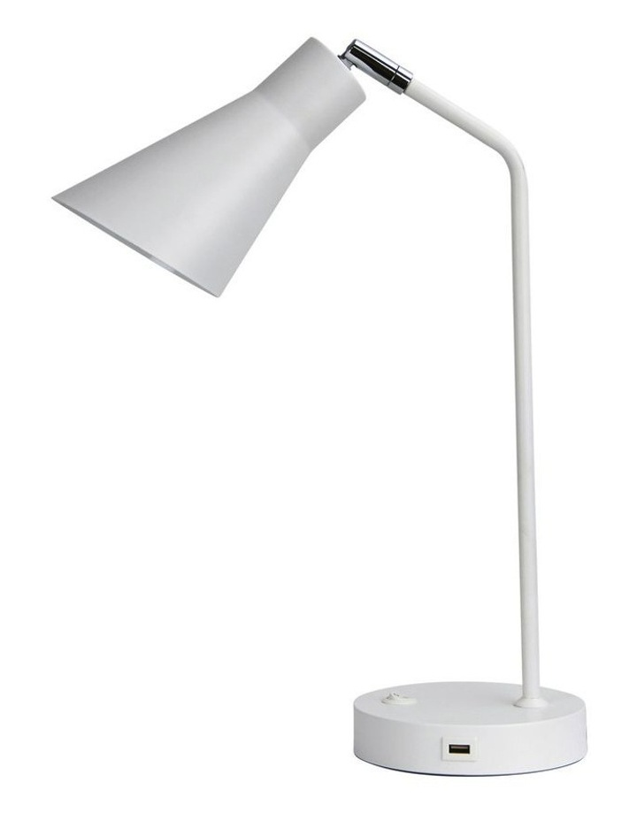 Thor Desk Lamp with USB White image 1
