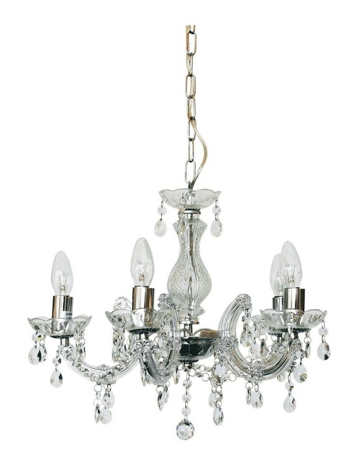 Grace Marie Therese 5 Light Chandelier Chrome image 1