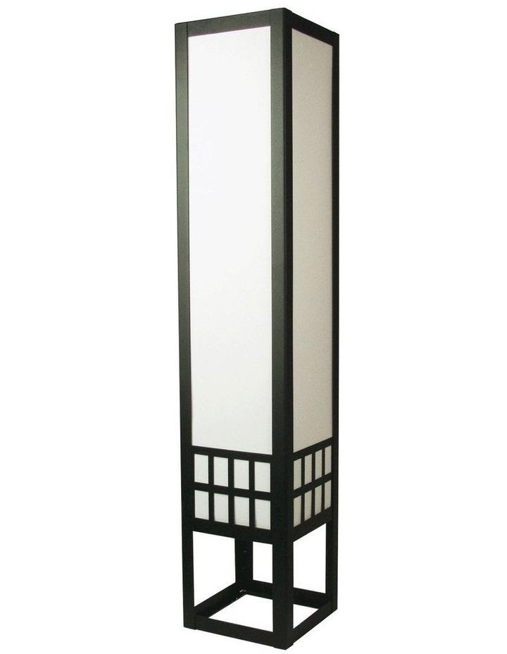 Sojo Chinese Style Black Framed Floor Lamp image 1