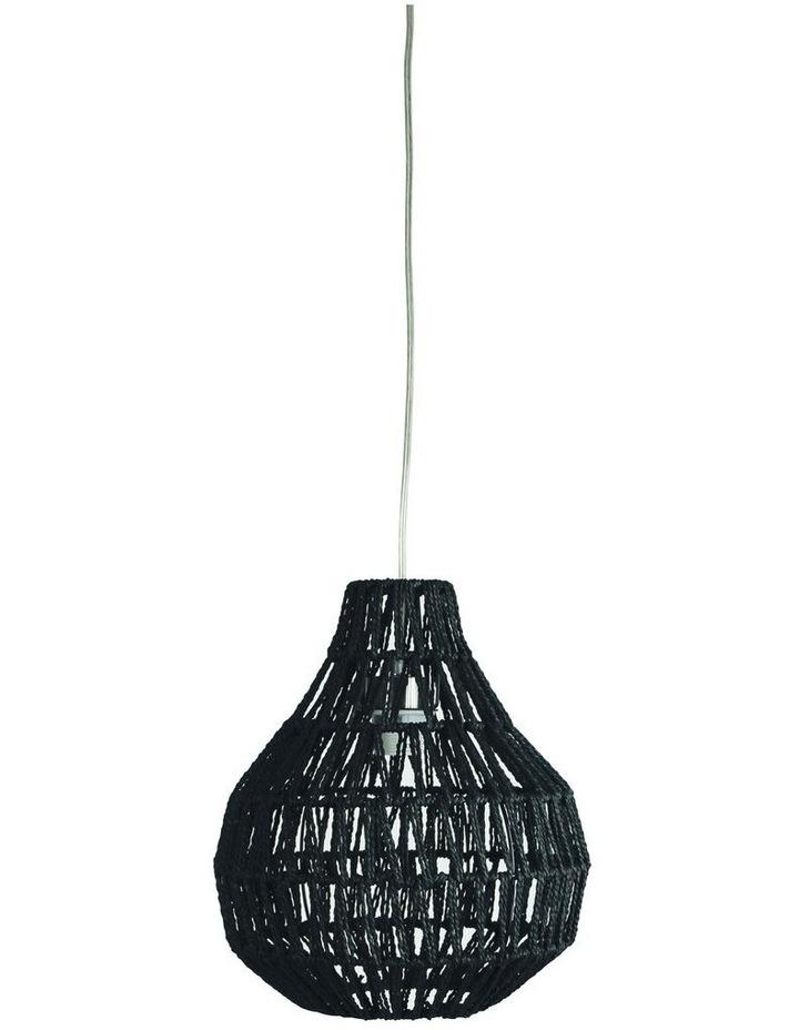 Cooper One Light Pendant Shade Only Black 30cm image 1