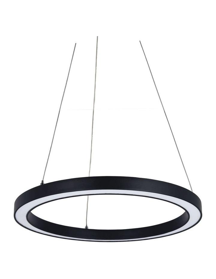 Nimbus 60cm LED Ring Pendant Light Black image 1