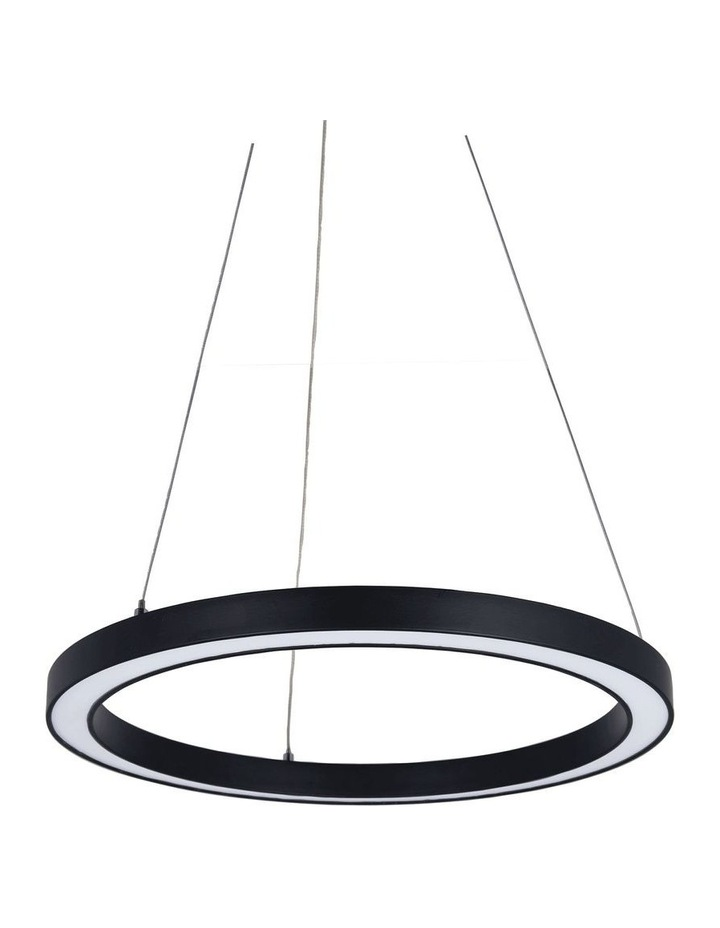 Nimbus 40cm LED Ring Pendant Light Black image 1