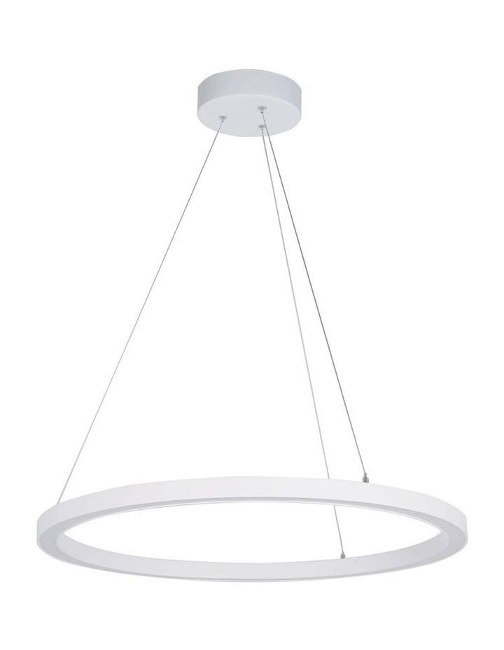 Nimbus 40cm LED Ring Pendant Light White image 1