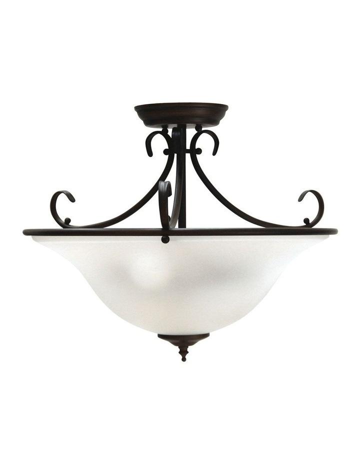 Gaston 3 Light Semi-Flush Fitting Pendant Light in Bronze image 1