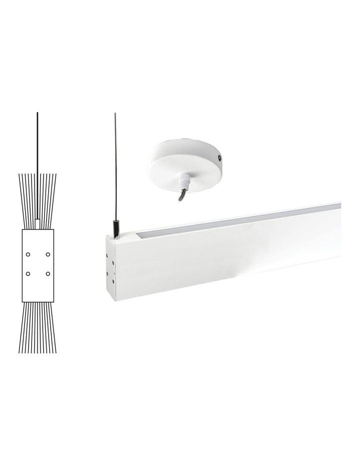 Slate Contemporary LED Pendant Light White image 1