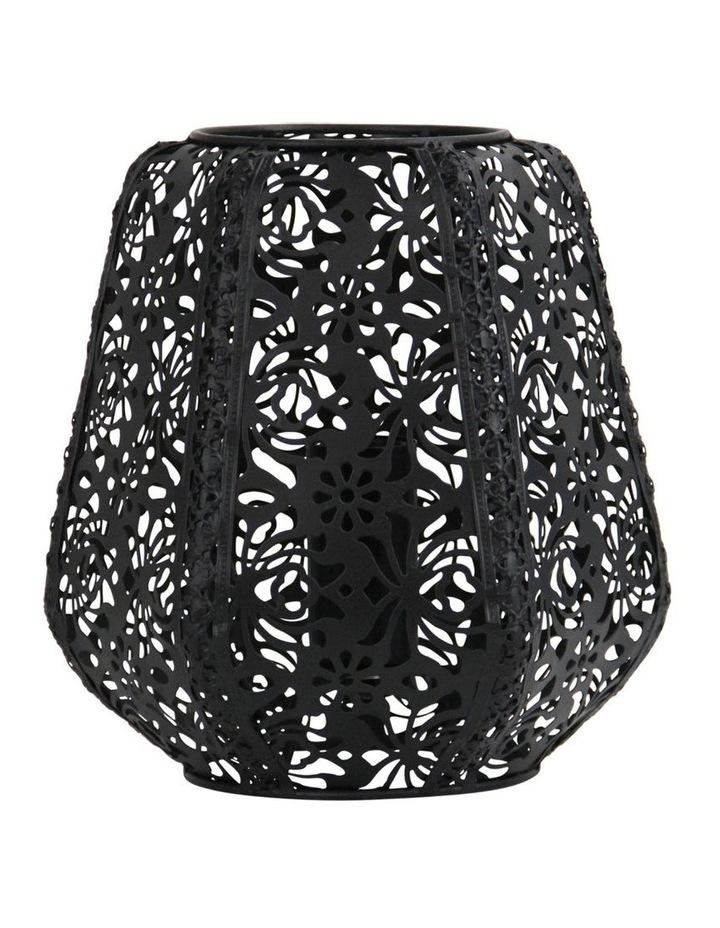 Lace Floral Metal Table Lamp Black image 1