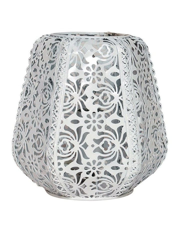 Lace Floral Metal Table Lamp White image 1