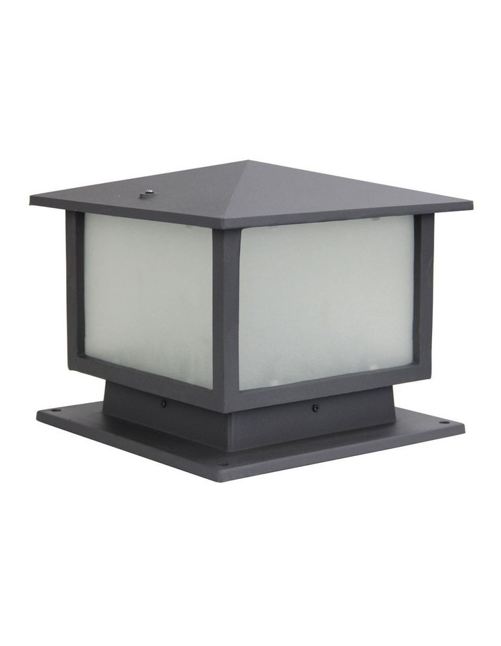 Cortez Outdoor Metal Post Top Graphite image 1