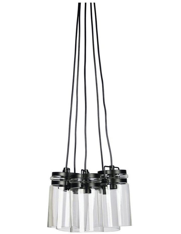 Agar 5Lt Clear Glass Vintage Jar Pendant Light image 1