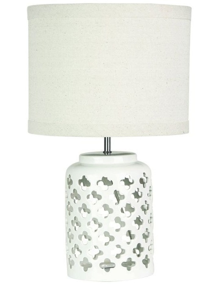 Casbah Moorish Table Lamp White image 1