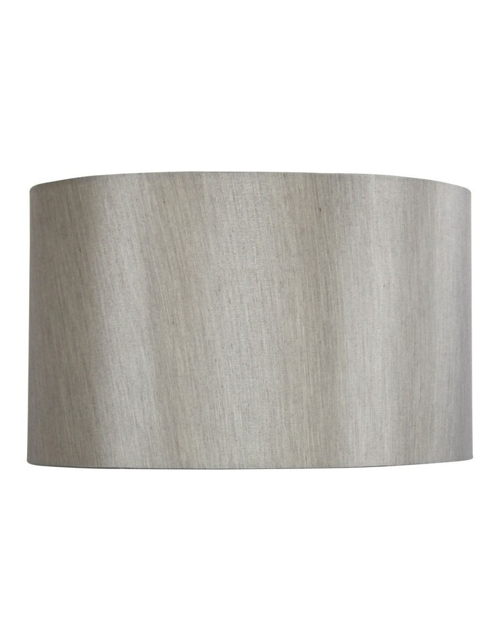 50cm Faux Satin Drum Shade Silver image 1