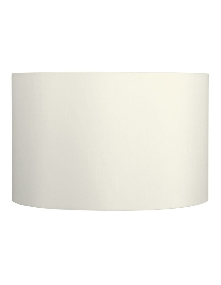 50cm Faux Satin Drum Shade Off White image 1