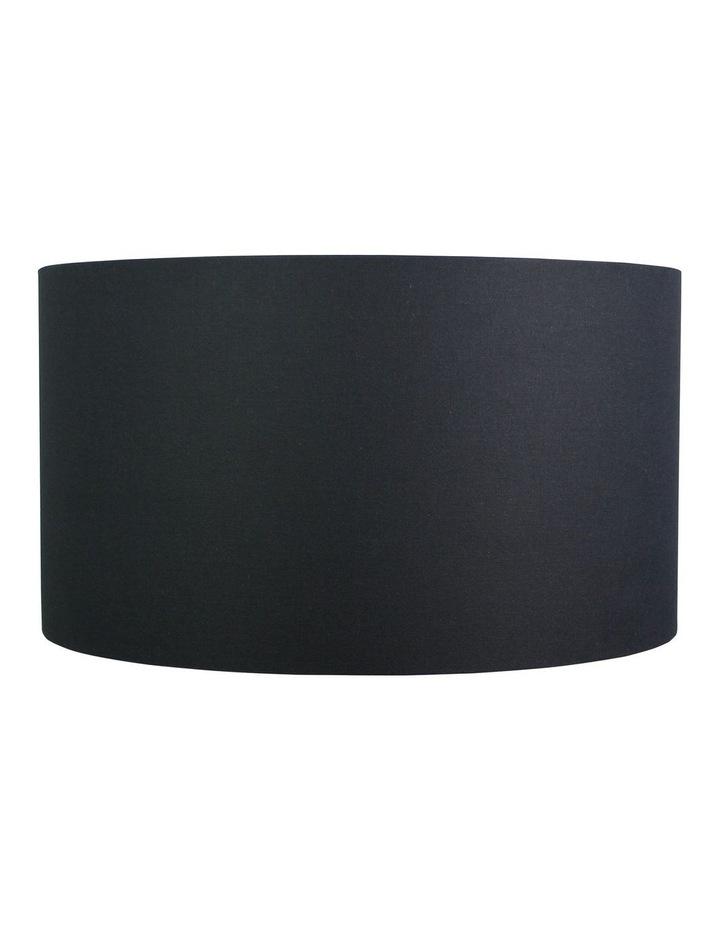50cm Faux Satin Drum Shade Black image 1