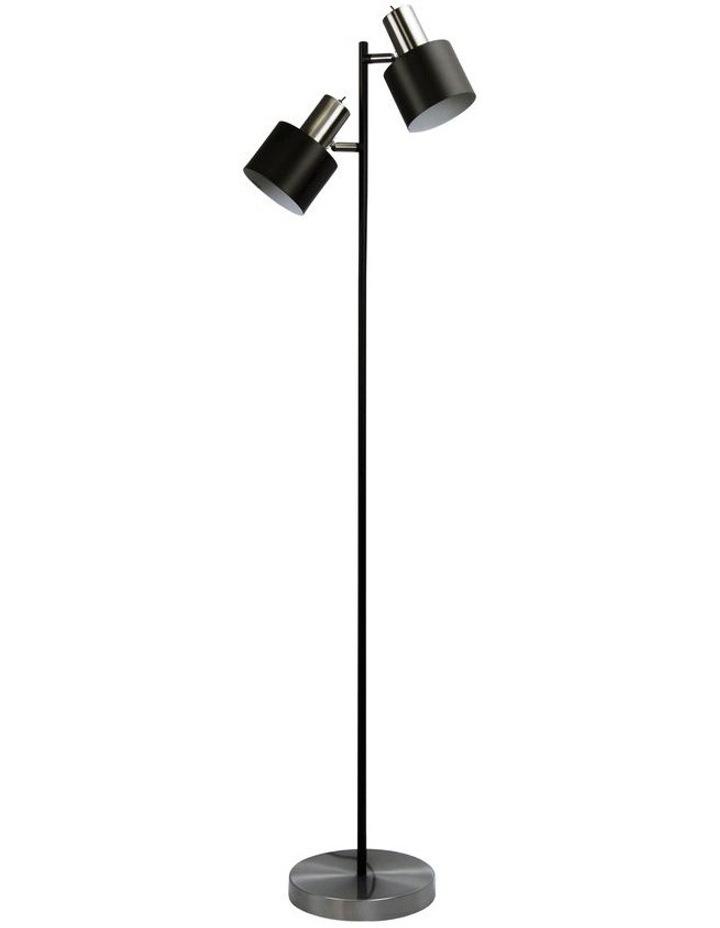 Ari Twin Floor Lamp Brushed Chrome image 1