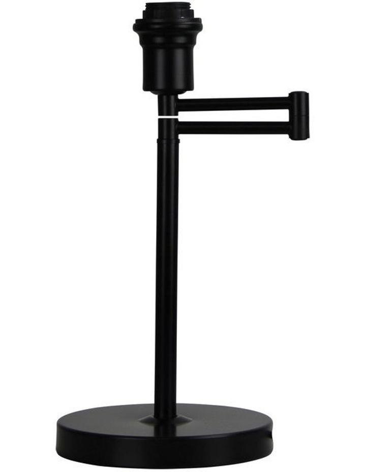 Kingston Swing Arm Table Lamp Base Only Black image 1
