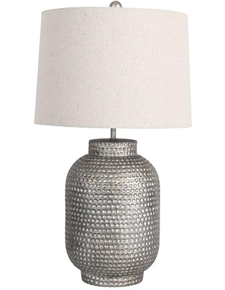 Palma Beaten Silver Table Lamp image 1