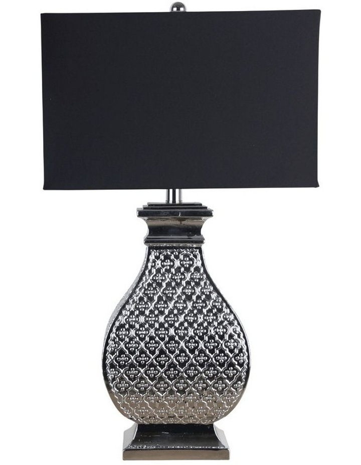 Algiers Embossed Chrome Table Lamp image 1