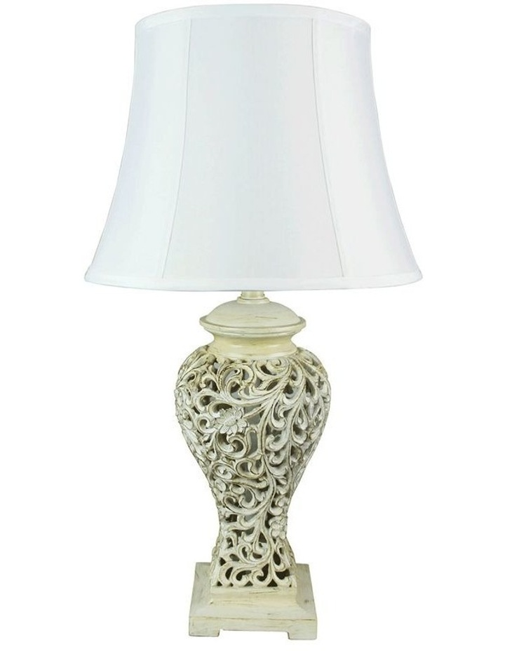 Devana Floral Cut Complete Table Lamp image 1